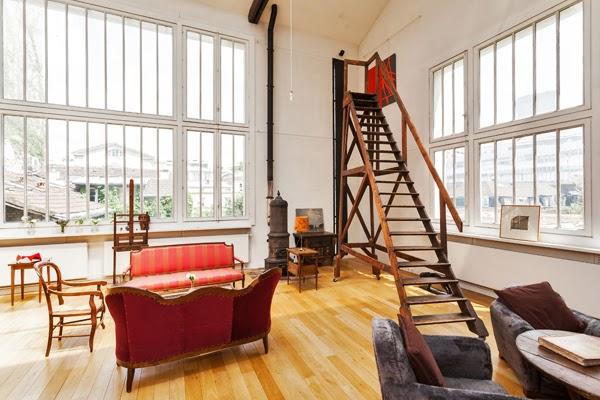 Superbe loft d 39 artiste louer meubl dans le 7 me l for Loft atelier artiste