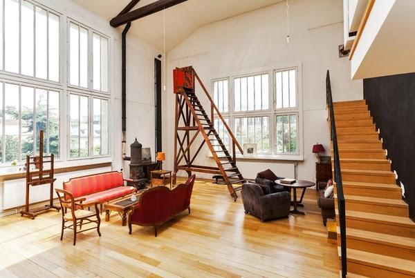 superbe loft d 39 artiste louer meubl dans le 7 me l 39 atelier l 39 agence de paris. Black Bedroom Furniture Sets. Home Design Ideas